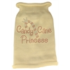 Mirage Pet Products Candy Cane Princess Knit Pet Sweater SM Cream
