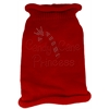 Mirage Pet Products Candy Cane Princess Knit Pet Sweater MD Red