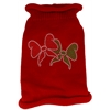 Mirage Pet Products Christmas Bows Rhinestone Knit Pet Sweater MD Red