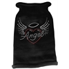 Mirage Pet Products Angel Heart Rhinestone Knit Pet Sweater LG Black