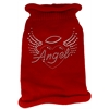 Mirage Pet Products Angel Heart Rhinestone Knit Pet Sweater MD Red