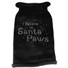 Mirage Pet Products I Believe in Santa Paws Rhinestone Knit Pet Sweater XS Black