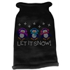Mirage Pet Products Let It Snow Penguins Rhinestone Knit Pet Sweater MD Black