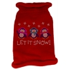 Mirage Pet Products Let It Snow Penguins Rhinestone Knit Pet Sweater LG Red
