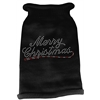 Mirage Pet Products Merry Christmas Rhinestone Knit Pet Sweater MD Black