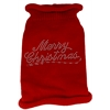 Mirage Pet Products Merry Christmas Rhinestone Knit Pet Sweater MD Red