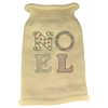 Mirage Pet Products Noel Rhinestone Knit Pet Sweater MD Cream
