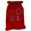 Mirage Pet Products Noel Rhinestone Knit Pet Sweater SM Red