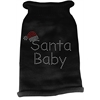 Mirage Pet Products Santa Baby Rhinestone Knit Pet Sweater XS Black