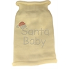 Mirage Pet Products Santa Baby Rhinestone Knit Pet Sweater SM Cream