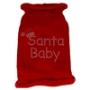 Mirage Pet Products Santa Baby Rhinestone Knit Pet Sweater LG Red