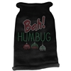 Mirage Pet Products Bah Humbug Rhinestone Knit Pet Sweater MD Black