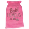 Mirage Pet Products Bah Humbug Rhinestone Knit Pet Sweater LG Pink