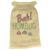 Mirage Pet Products Bah Humbug Rhinestone Knit Pet Sweater SM Cream