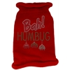 Mirage Pet Products Bah Humbug Rhinestone Knit Pet Sweater SM Red
