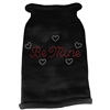 Mirage Pet Products Be Mine Rhinestone Knit Pet Sweater MD Black