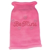 Mirage Pet Products Be Mine Rhinestone Knit Pet Sweater XS Pink