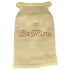 Mirage Pet Products Be Mine Rhinestone Knit Pet Sweater MD Cream