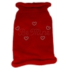 Mirage Pet Products Be Mine Rhinestone Knit Pet Sweater SM Red