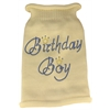 Mirage Pet Products Birthday Boy Rhinestone Knit Pet Sweater XXL Cream