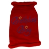 Mirage Pet Products Birthday Boy Rhinestone Knit Pet Sweater XL Red