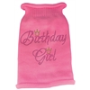 Mirage Pet Products Birthday Girl Rhinestone Knit Pet Sweater XL Pink
