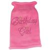 Mirage Pet Products Birthday Girl Rhinestone Knit Pet Sweater LG Pink