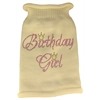 Mirage Pet Products Birthday Girl Rhinestone Knit Pet Sweater XL Cream