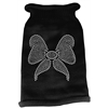 Mirage Pet Products Bow Rhinestone Knit Pet Sweater SM Black