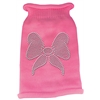 Mirage Pet Products Bow Rhinestone Knit Pet Sweater MD Pink