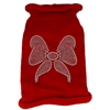 Mirage Pet Products Bow Rhinestone Knit Pet Sweater SM Red