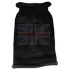 Mirage Pet Products British Flag Rhinestone Knit Pet Sweater XL Black