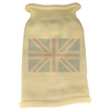 Mirage Pet Products British Flag Rhinestone Knit Pet Sweater LG Cream