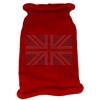 Mirage Pet Products British Flag Rhinestone Knit Pet Sweater SM Red