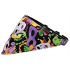 Mirage Pet Products Mardi Gras Bandana Pet Collar Black Size 16