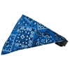 Mirage Pet Products Blue Western Bandana Pet Collar Black Size 12