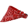 Mirage Pet Products Red Western Bandana Pet Collar Red Size 18