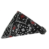 Mirage Pet Products Black Western Bandana Pet Collar Black Size 12