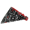Mirage Pet Products Black Western Bandana Pet Collar Red Size 18