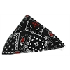 Mirage Pet Products Black Western Bandana Pet Collar White Size 20