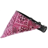 Mirage Pet Products Bright Pink Western Bandana Pet Collar Black Size 20