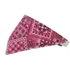 Mirage Pet Products Bright Pink Western Bandana Pet Collar White Size 16