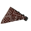 Mirage Pet Products Brown Western Bandana Pet Collar Black Size 10