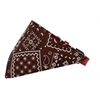 Mirage Pet Products Brown Western Bandana Pet Collar Red Size 10