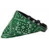 Mirage Pet Products Emerald Green Western Bandana Pet Collar Black Size 14