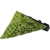 Mirage Pet Products Lime Green Western Bandana Pet Collar Black Size 10