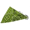 Mirage Pet Products Lime Green Western Bandana Pet Collar White Size 12