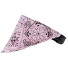 Mirage Pet Products Light Pink Western Bandana Pet Collar Black Size 12