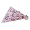 Mirage Pet Products Light Pink Western Bandana Pet Collar White Size 12