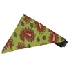Mirage Pet Products Lime Green Pretty Paisley Bandana Pet Collar Black Size 12